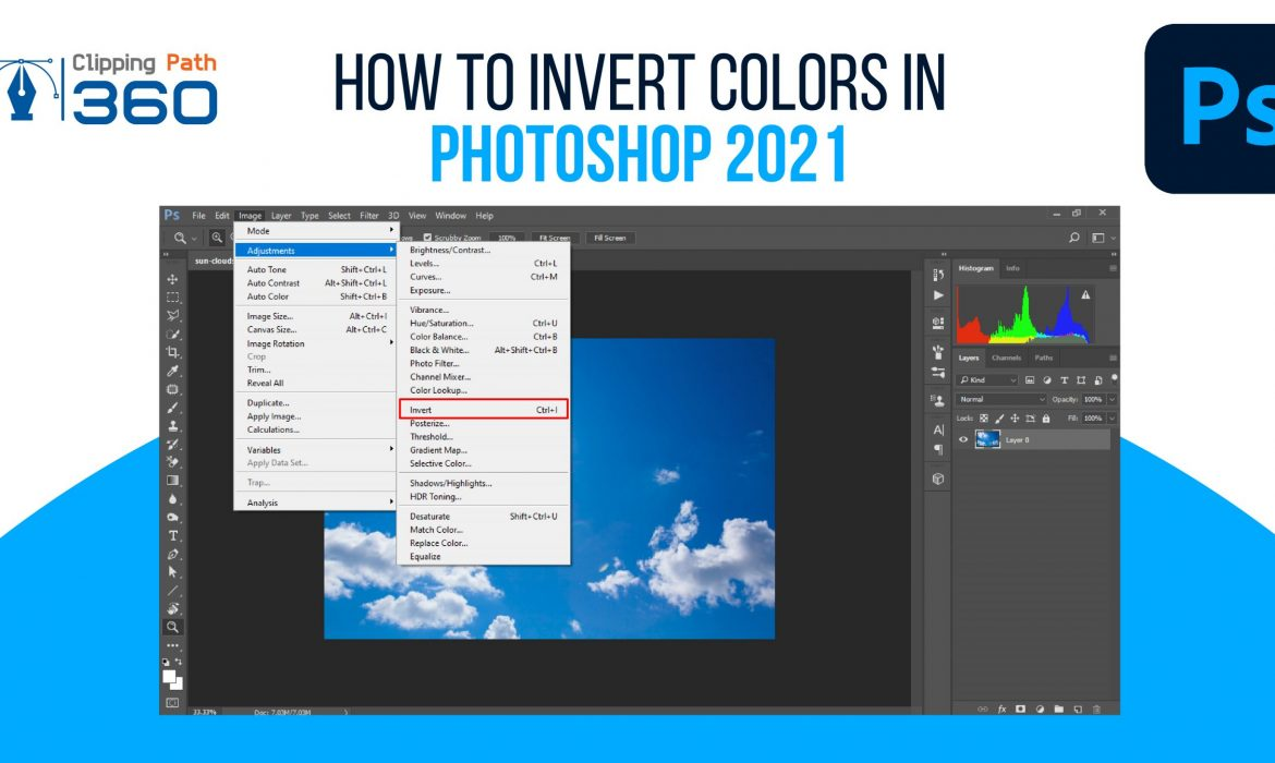 invert colors in photoshop
